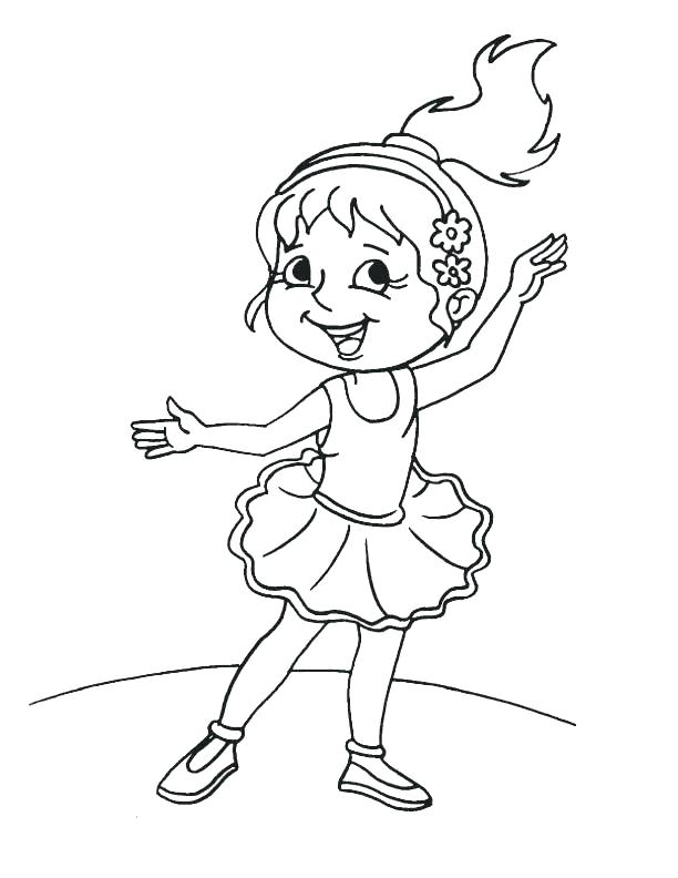612x792 Cute Girl Coloring Pages Girl Coloring Page Cute Girl Ballet