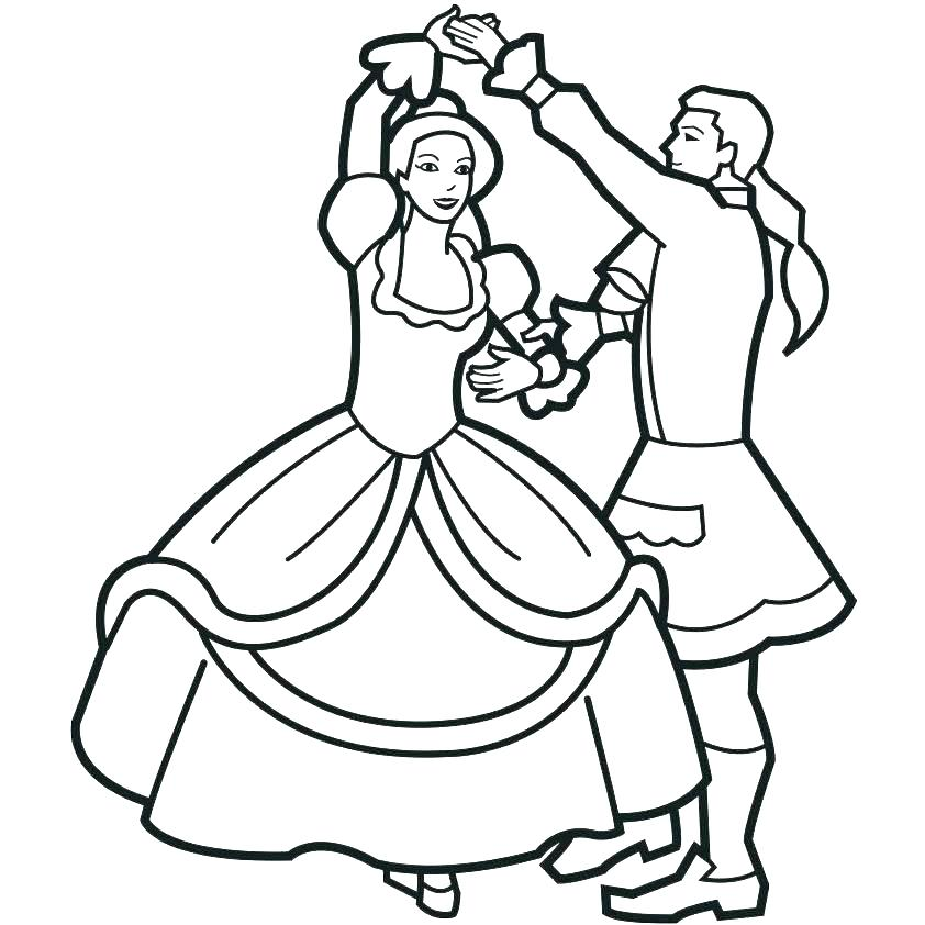 842x842 Dancing Coloring Pages
