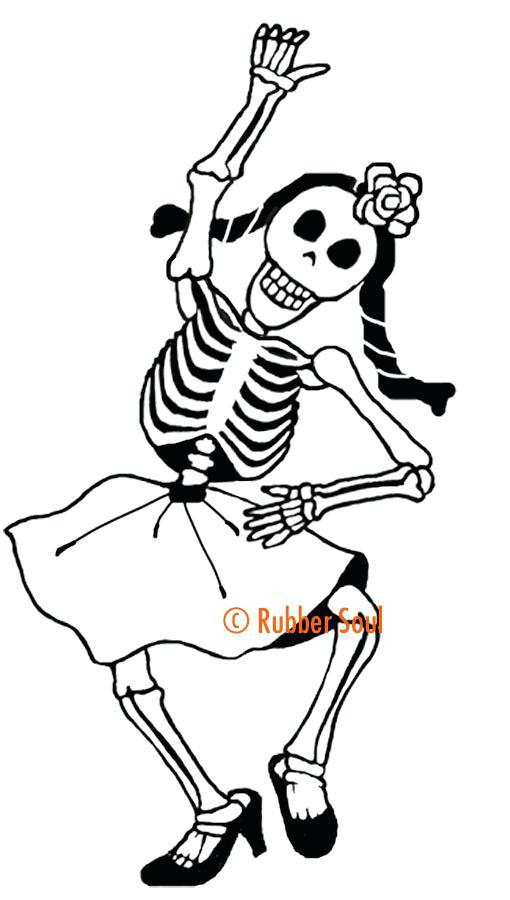 510x900 El Dia De Los Muertos Coloring Pages Wood Stamps Dancing Girl Copy