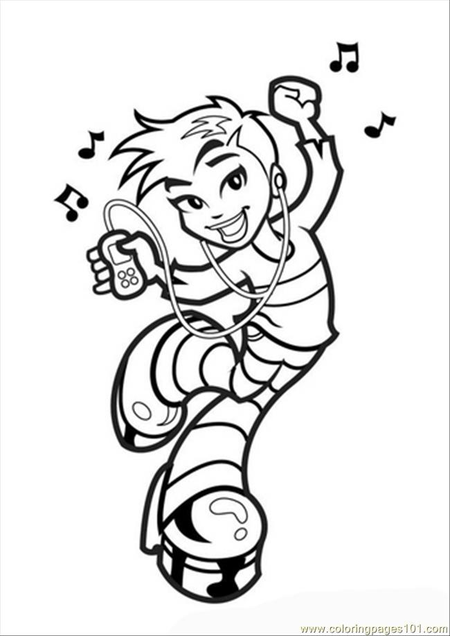 650x918 Es Photo Dancing Girl Coloring Page
