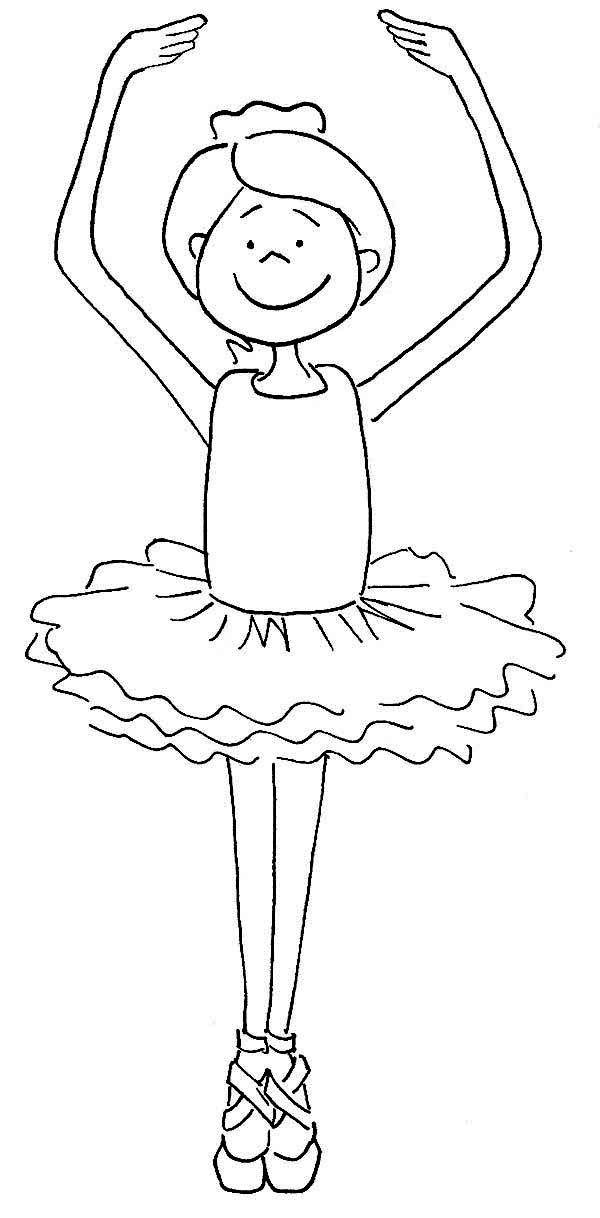 600x1218 Ballerina, Cute Ballerina Girl Coloring Page Dance