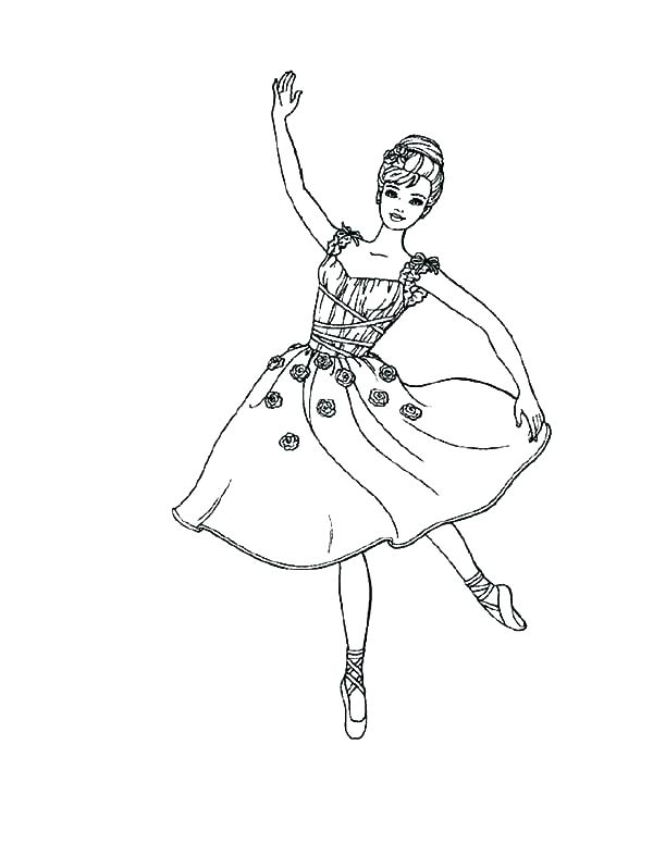 600x776 Ballet Coloring Pages Ballet Coloring Pages Ballerina Coloring