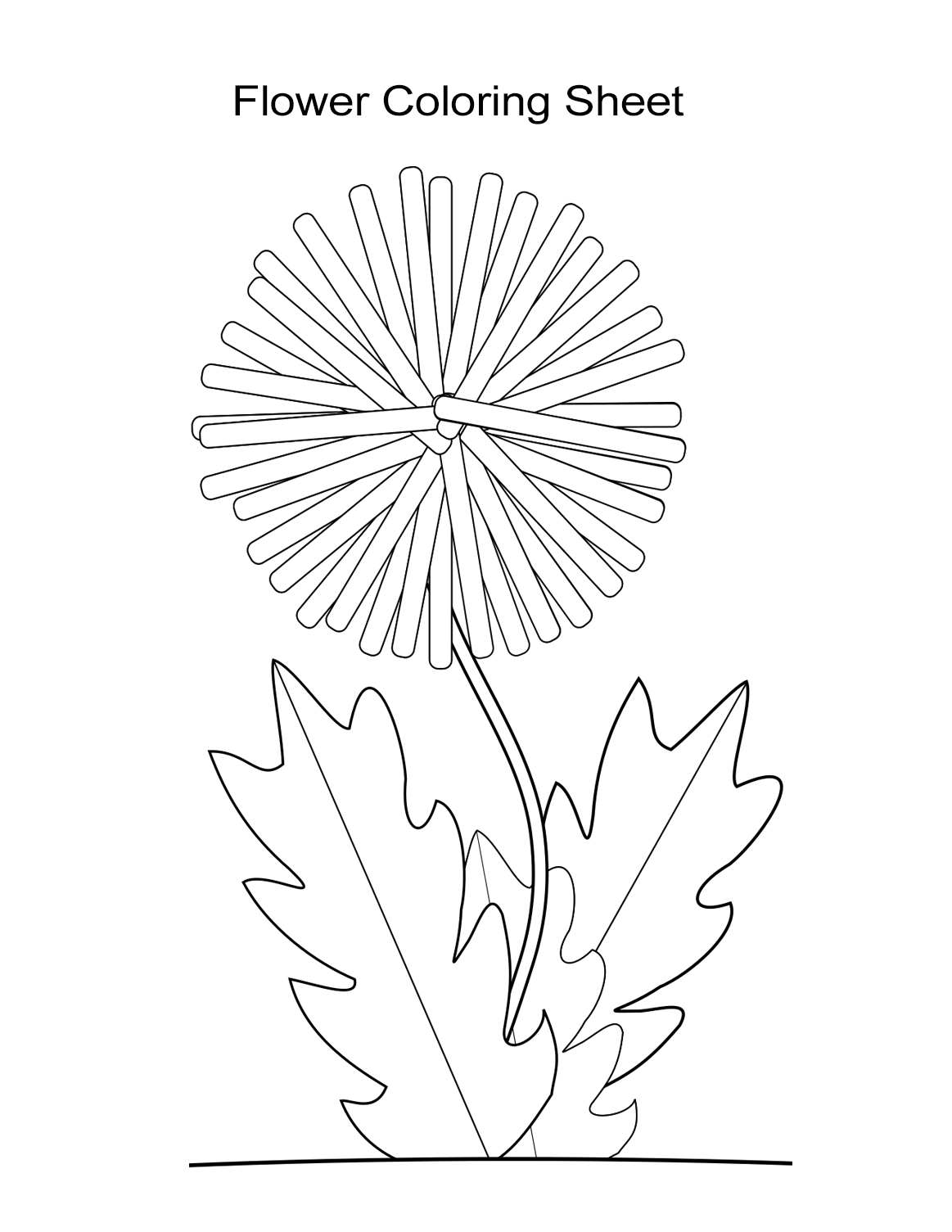It is a picture of Ridiculous Dandelion Coloring Page
