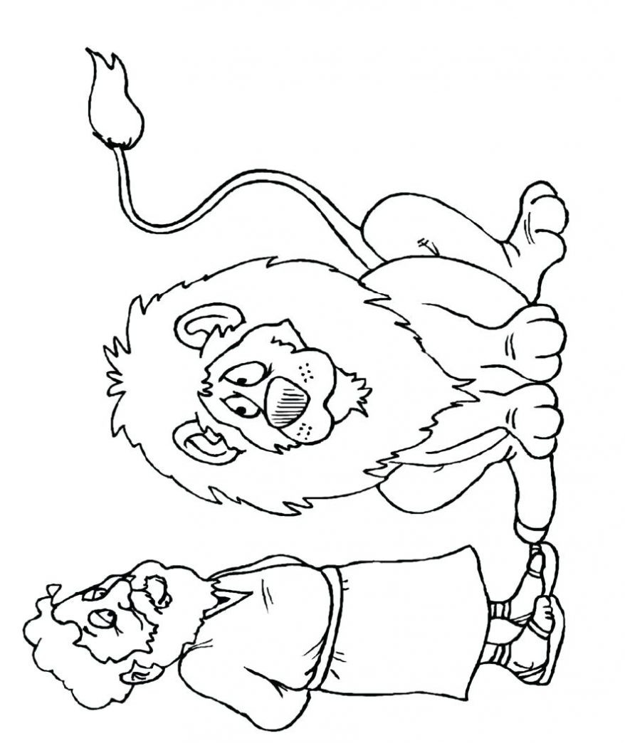 Daniel And The Lions Den Coloring Pages Free at ...