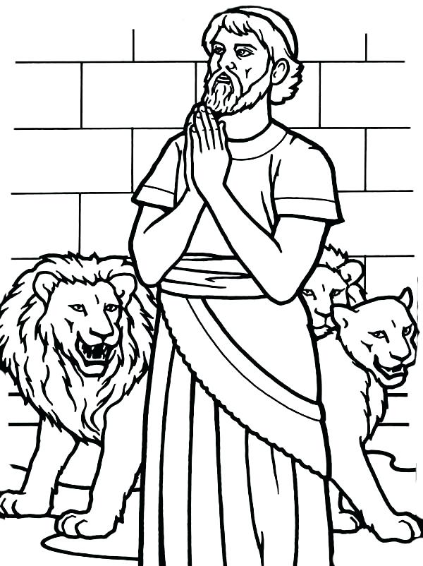 600x802 Daniel Coloring Pages Pray To God In And The Lions Den Coloring
