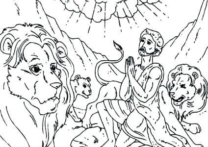 424x300 Daniel Coloring Pages Coloring Pages And The Lions Den Coloring