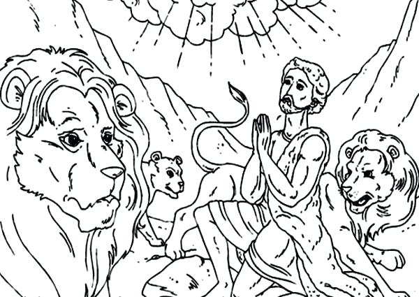 600x425 Daniel Coloring Pages Daniel Coloring Pages Praying