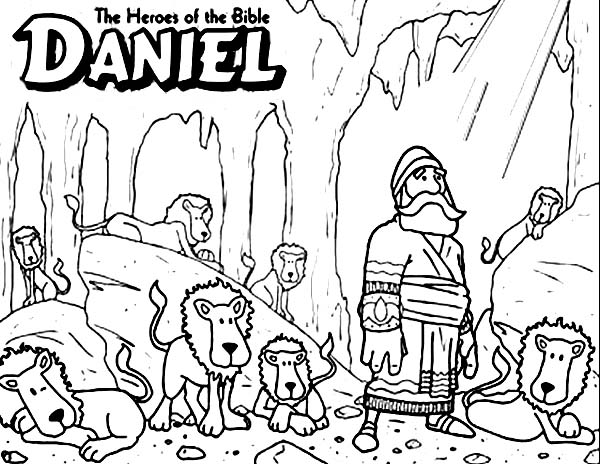 600x464 Daniel The Bible Heroes Coloring Page
