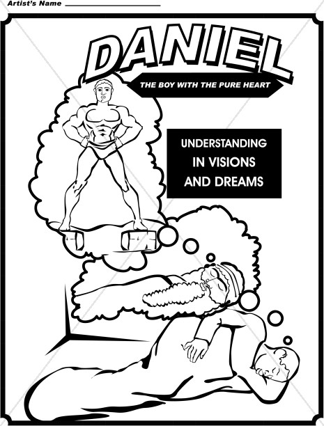 465x612 Daniel Coloring Page Childrens Church Clipart