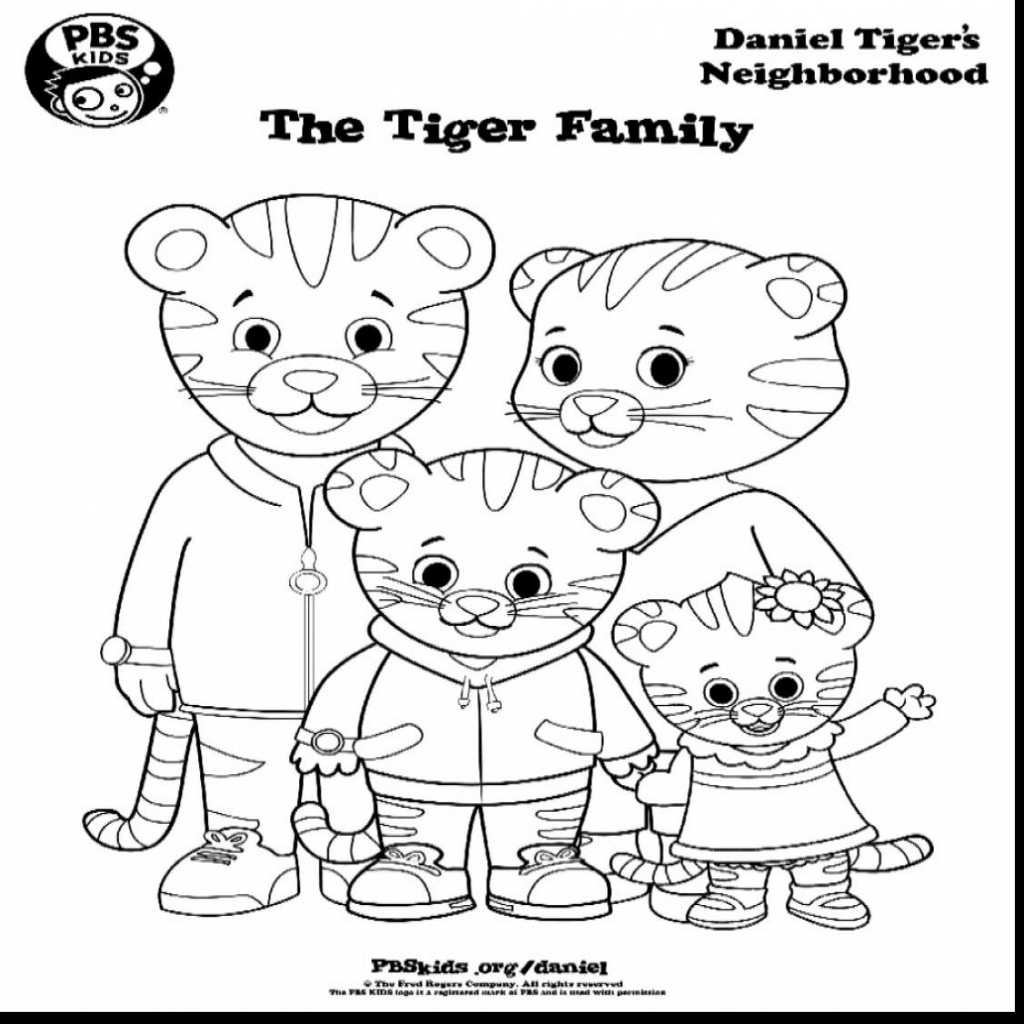 1024x1024 Photographic Gallery Daniel Tiger Coloring Pages Free Page Simple