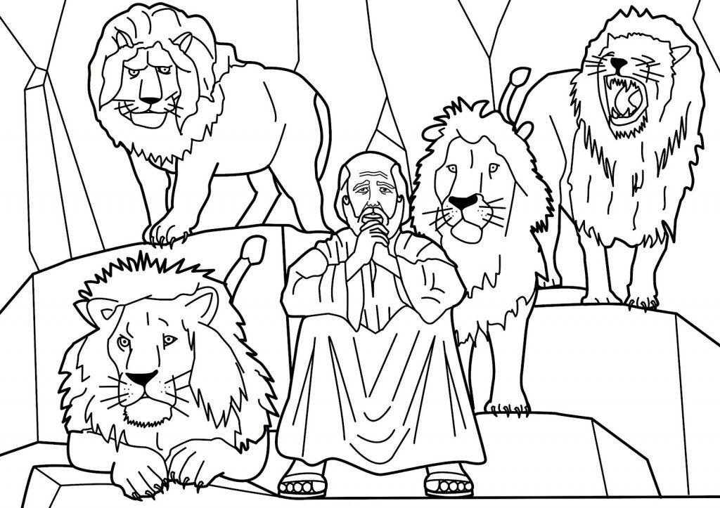 1024x723 Daniel Bible Coloring Pages Daniel And The Lions Den Coloring
