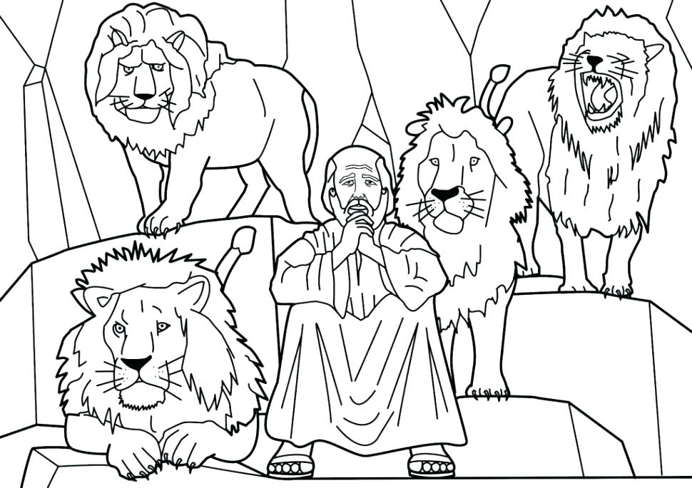 970x685 Daniel Coloring Pages And Lions Den Coloring Sheets Coloring Pages