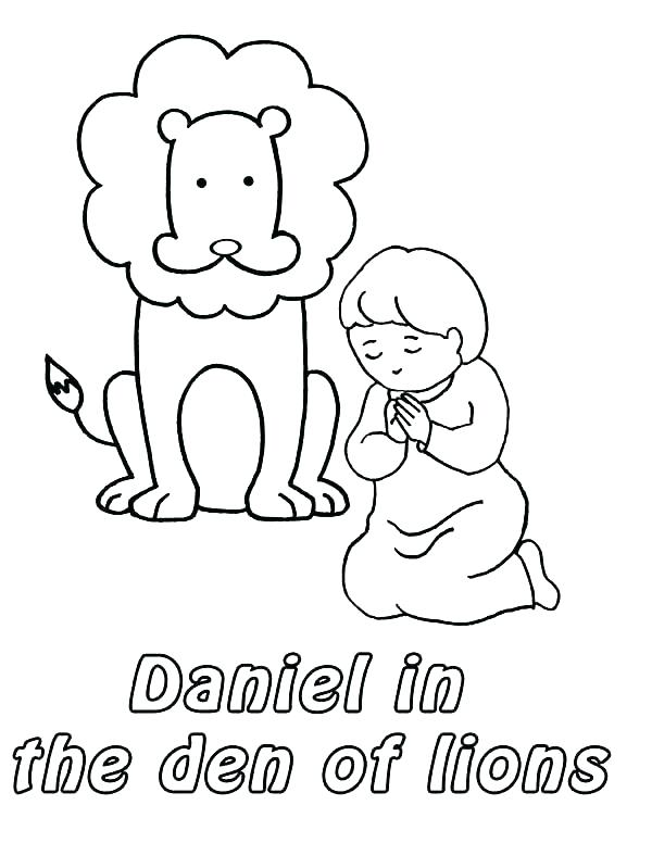 600x776 Daniel Coloring Pages The Lions Den Coloring Page Also