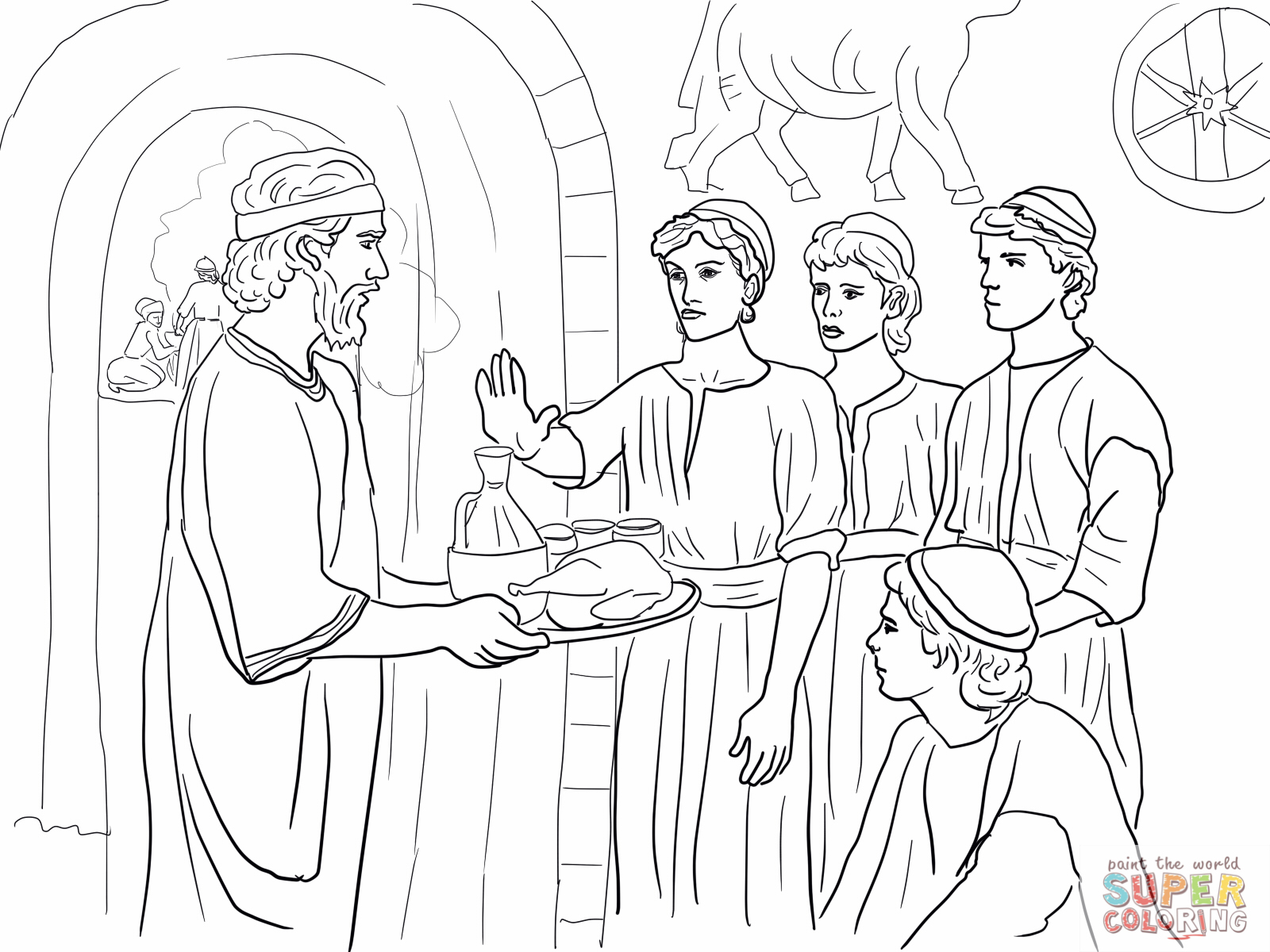 1600x1200 Daniel Coloring Pages Chapter Sunday School Ideas