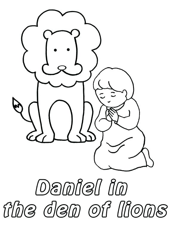 Daniel In The Lions Den Coloring Page at GetDrawings ...