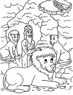 Daniel In The Lions Den Coloring Page At Getdrawings Com Free For