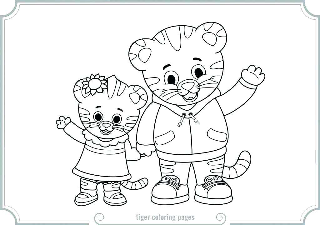1024x720 Daniel Tiger Coloring Page Tiger Coloring Pages Tigers