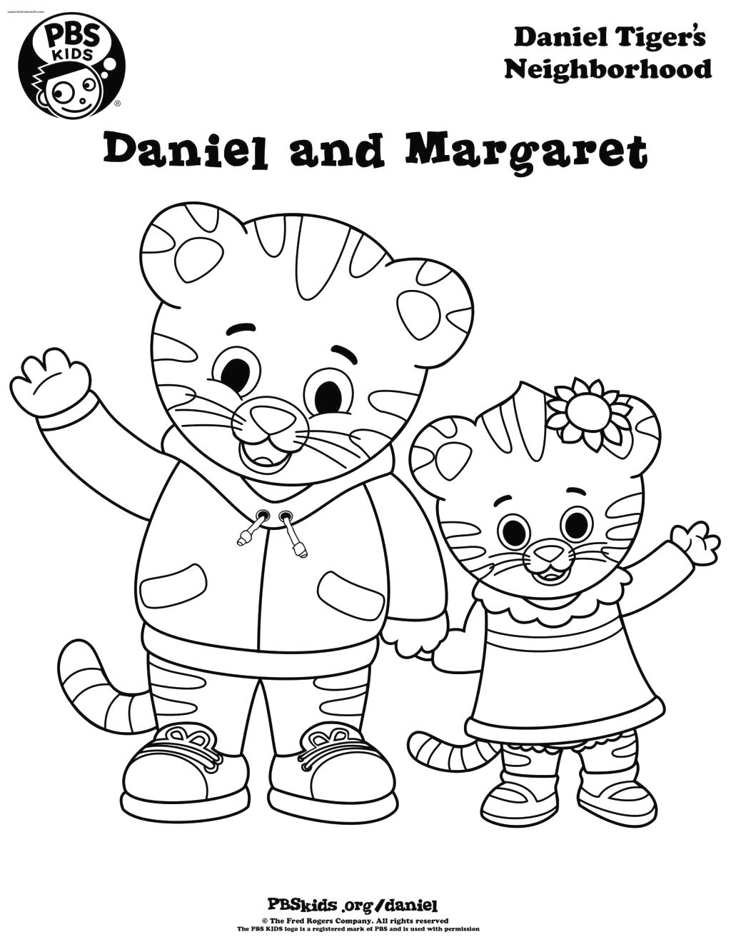 1024x1326 Daniel Tiger Coloring Pages