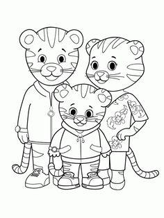 236x314 Daniel Tiger Coloring Pages Daniel Tiger, Tigers And Cartoon