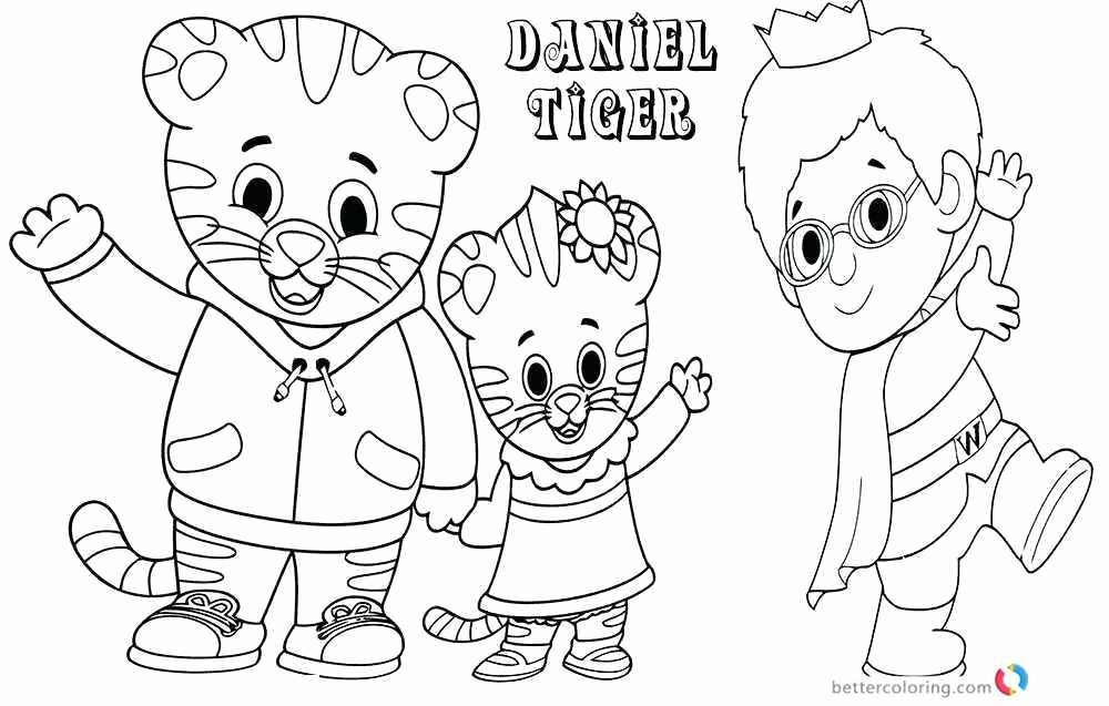1000x637 Daniel Tiger Coloring Pages Best Images About Coloring Pages