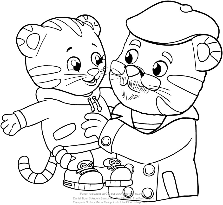 926x850 Daniel Tiger Coloring Pages Endear Printable Acpra