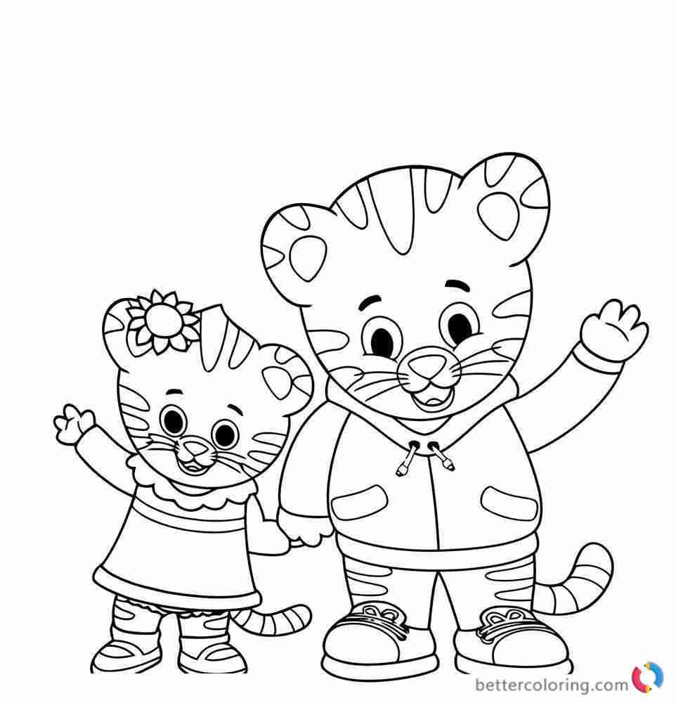962x1000 Daniel Tiger Coloring Pages Free Printable Beauteous Page Olegratiy