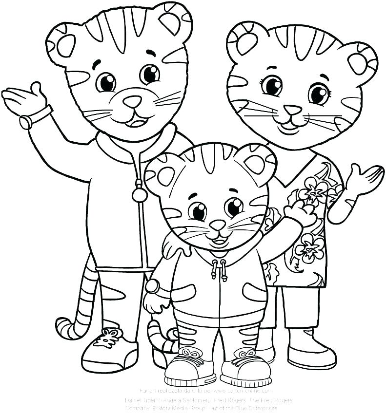 791x850 Daniel Tiger Coloring Pages Pdf Plus With Dad And Mom Page