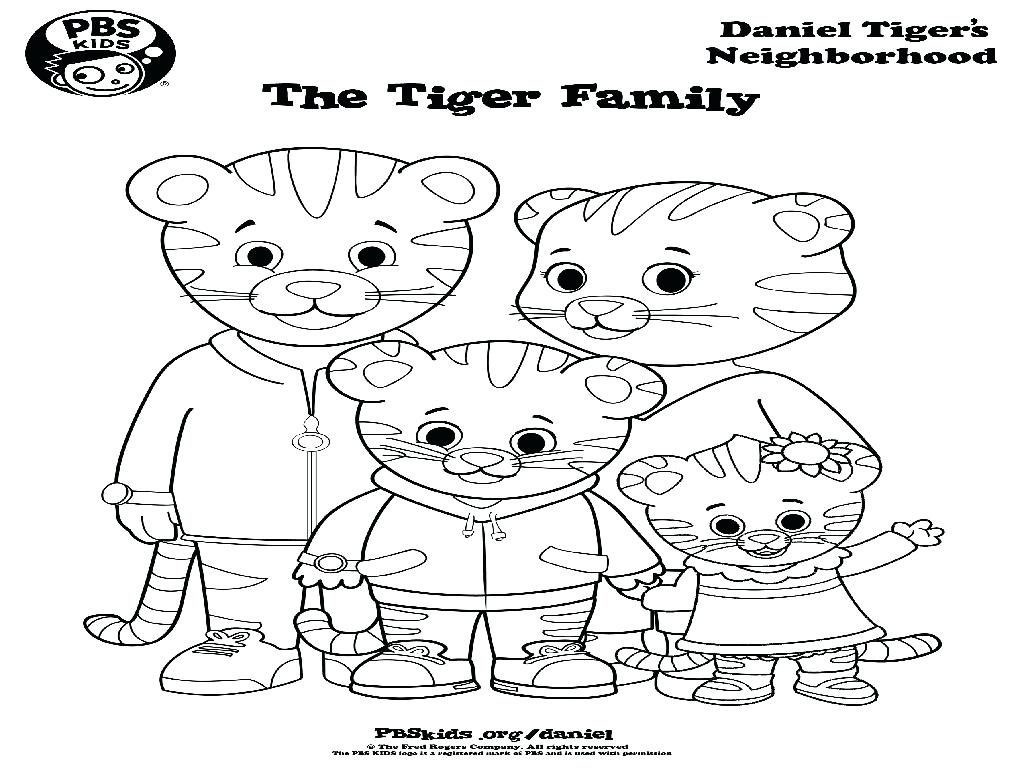 1024x768 Daniel Tiger Coloring Pages Printable Wagashiya