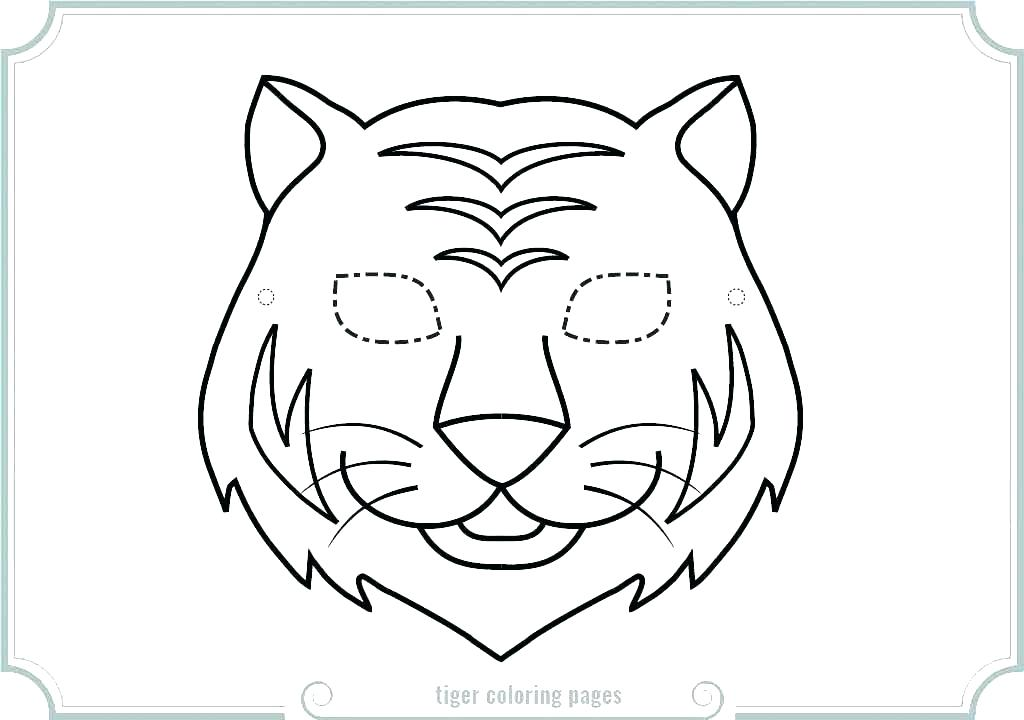 1024x720 Daniel Tiger Coloring Pages Printable Masks Mask Page Free P