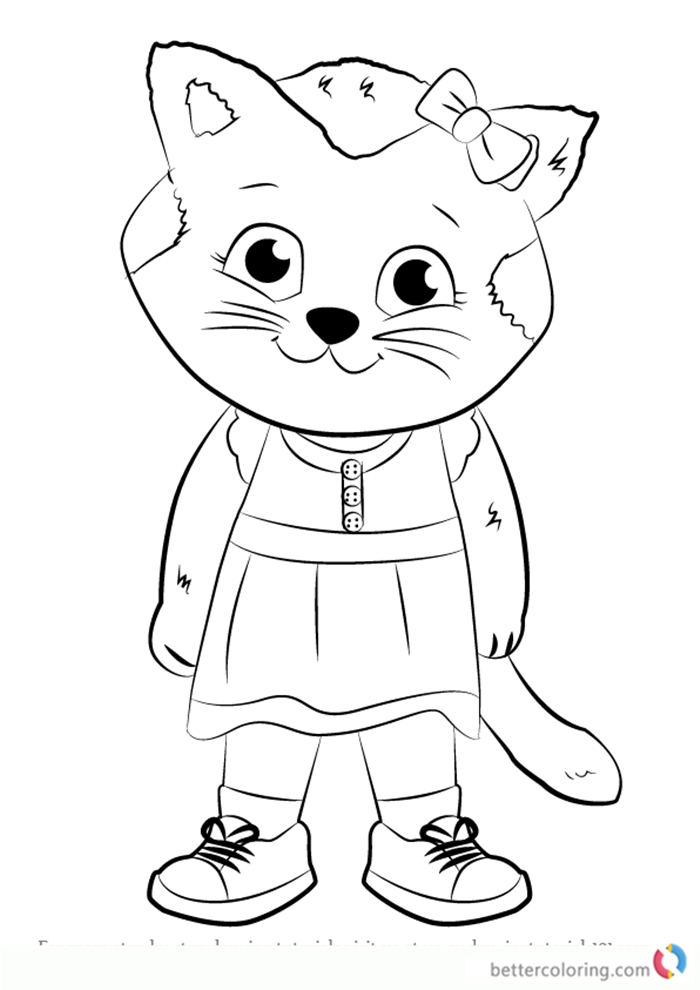 700x990 Katerina Kittycat From Daniel Tiger Coloring Pages