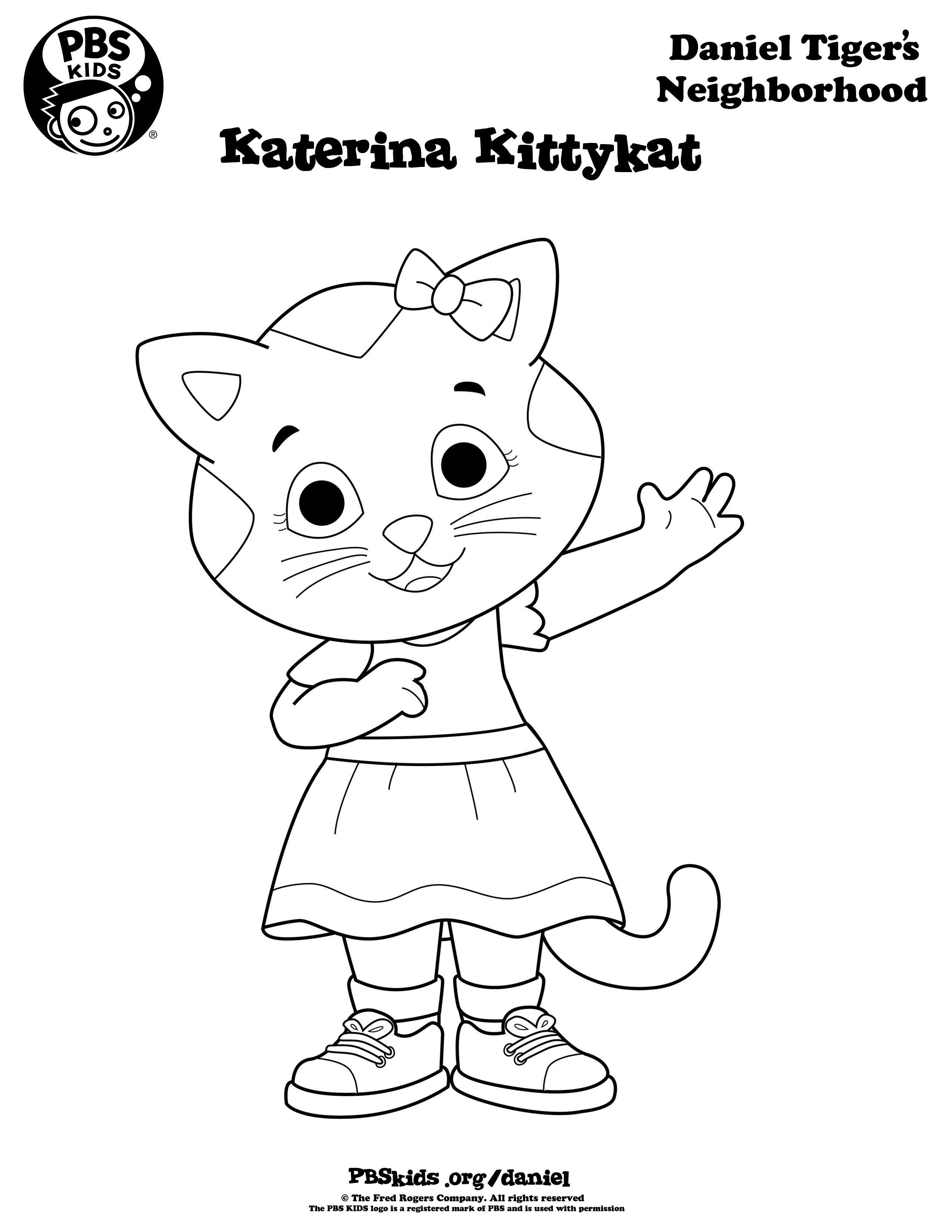 2550x3300 Coloring Daniel Tigers Neighborhood Pbs Kids Anna Maries Pbs