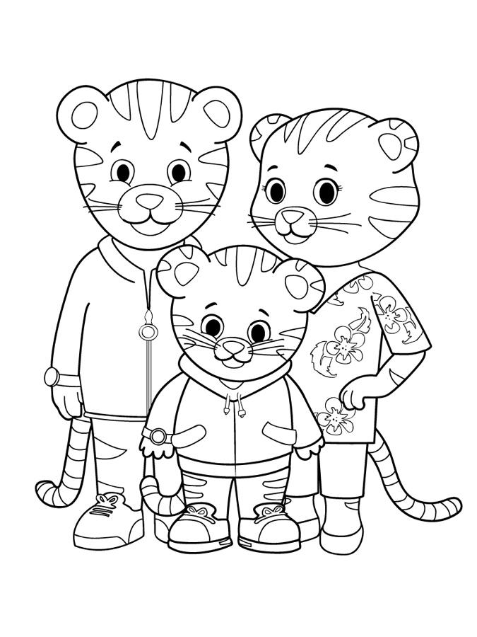 675x900 Daniel Tiger Coloring Pages Pict