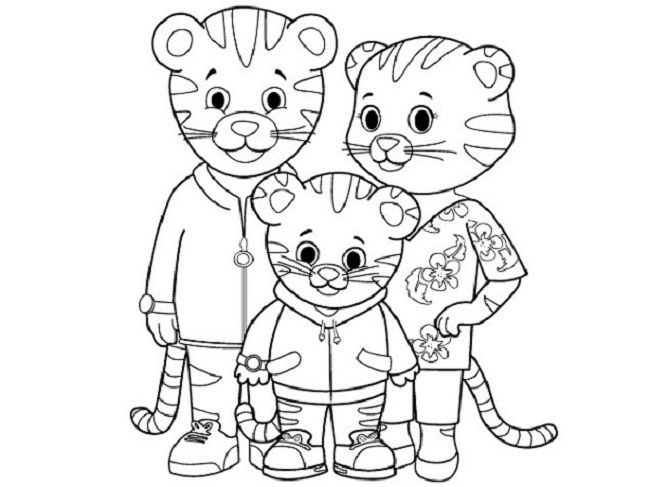 650x487 Daniel Tiger Coloring Pages Printable Coloring Pages