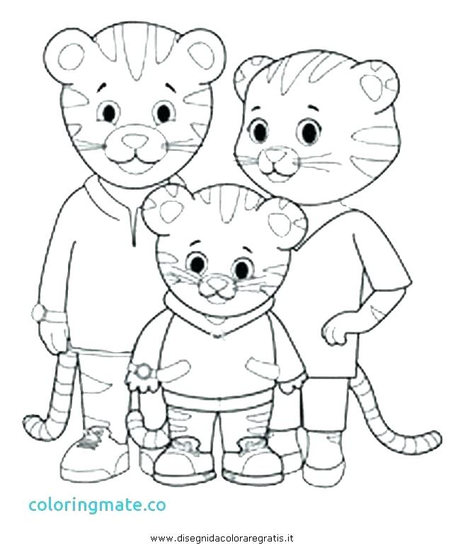 640x769 Daniel Tiger Coloring Pages Icontent
