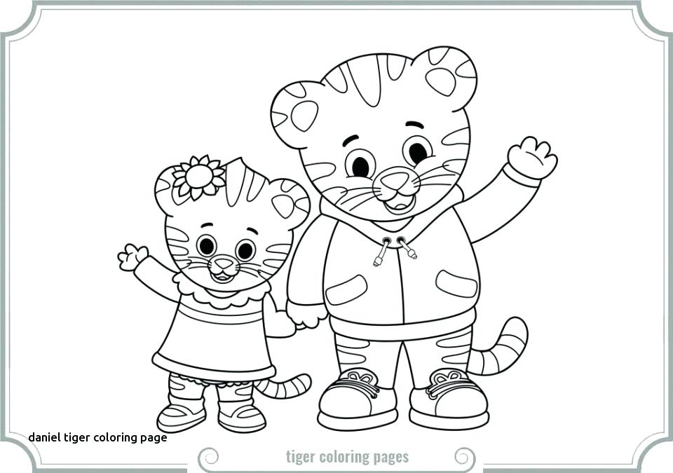 960x675 Daniel Tiger Coloring Page Get This Tiger Coloring Pages Printable