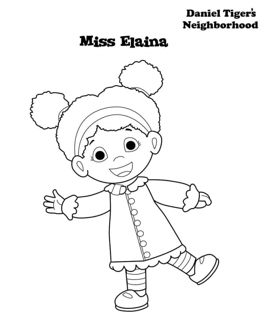 Daniel Tiger Neighborhood Coloring Pages