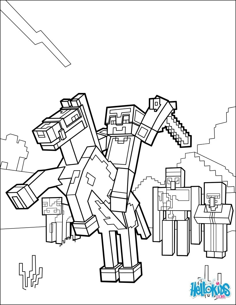 820x1060 Best Of Zombie Minecraft Horse Coloring Pages
