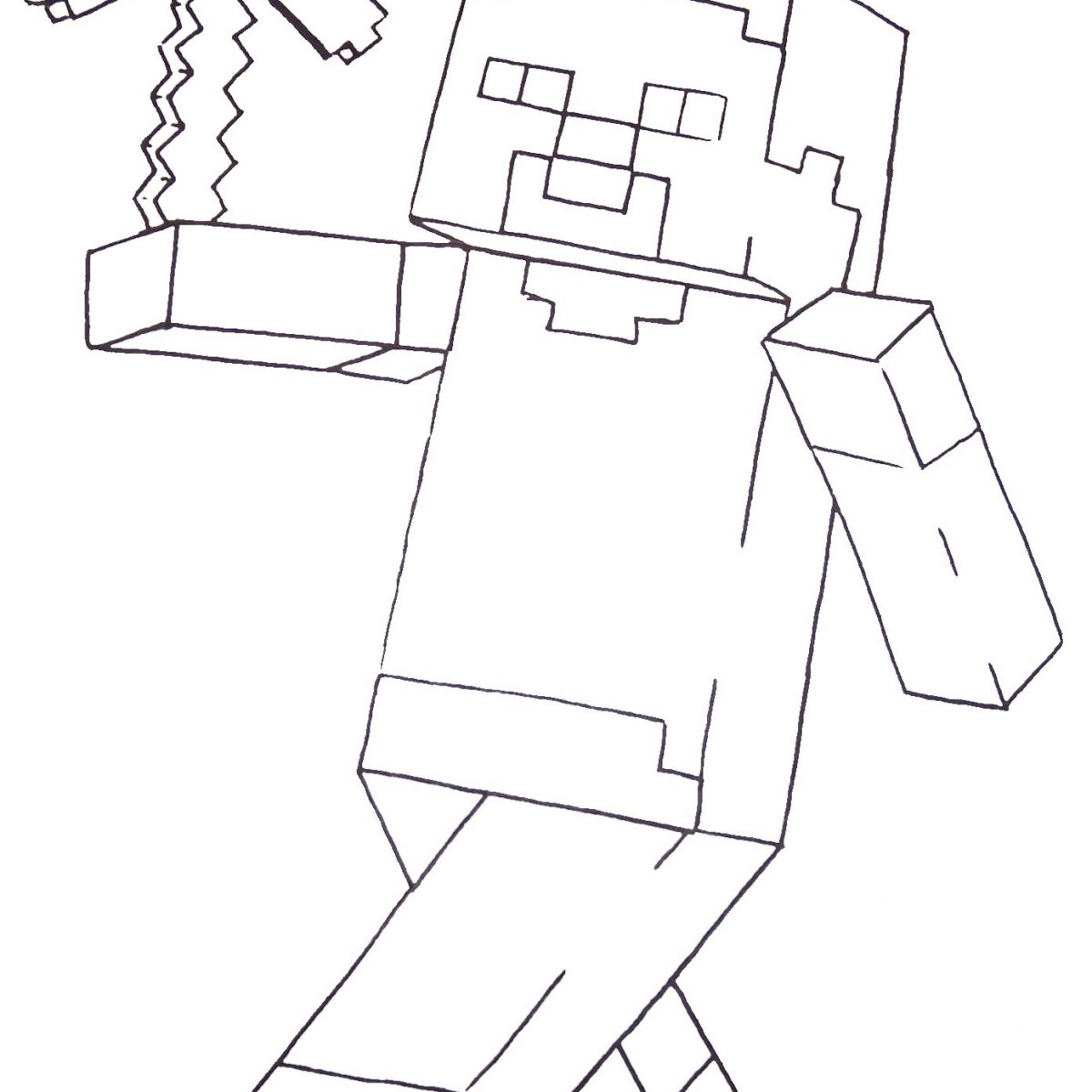 1200x1200 Minecraft Coloring Pages Free Exceptional Dantdm