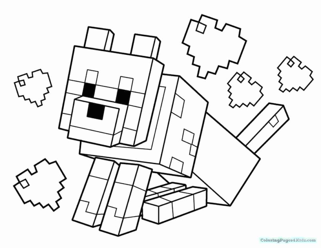 1024x791 Minecraft Dantdm Coloring Pages For Kids Lovely With Coloring