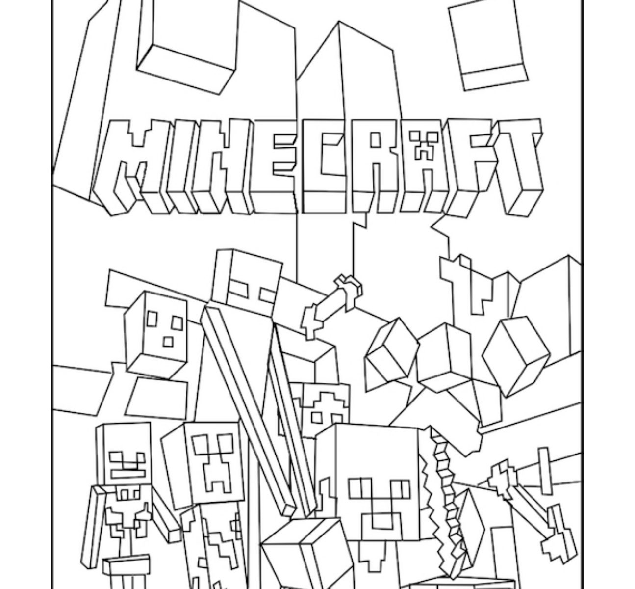 1295x1200 Shining Design Minecraft Coloring Pages Inofations
