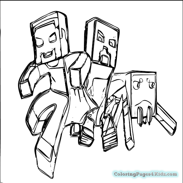600x599 Minecraft Coloring Pages Free Coloring Pages For Kids