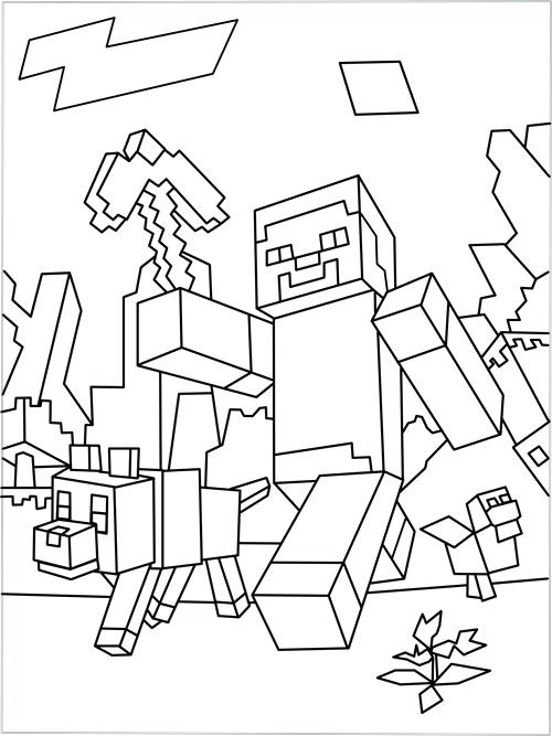 500x667 Coloring Pages Of Minecraft Coloring Pages Coloring Pages