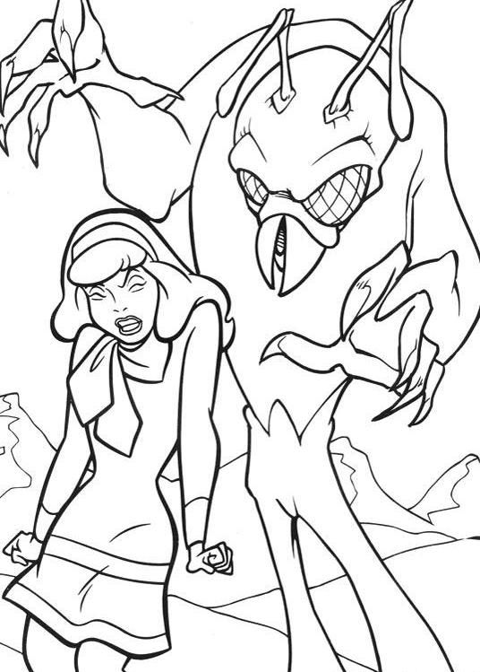 Daphne Scooby Doo Coloring Pages At GetDrawings Free Download