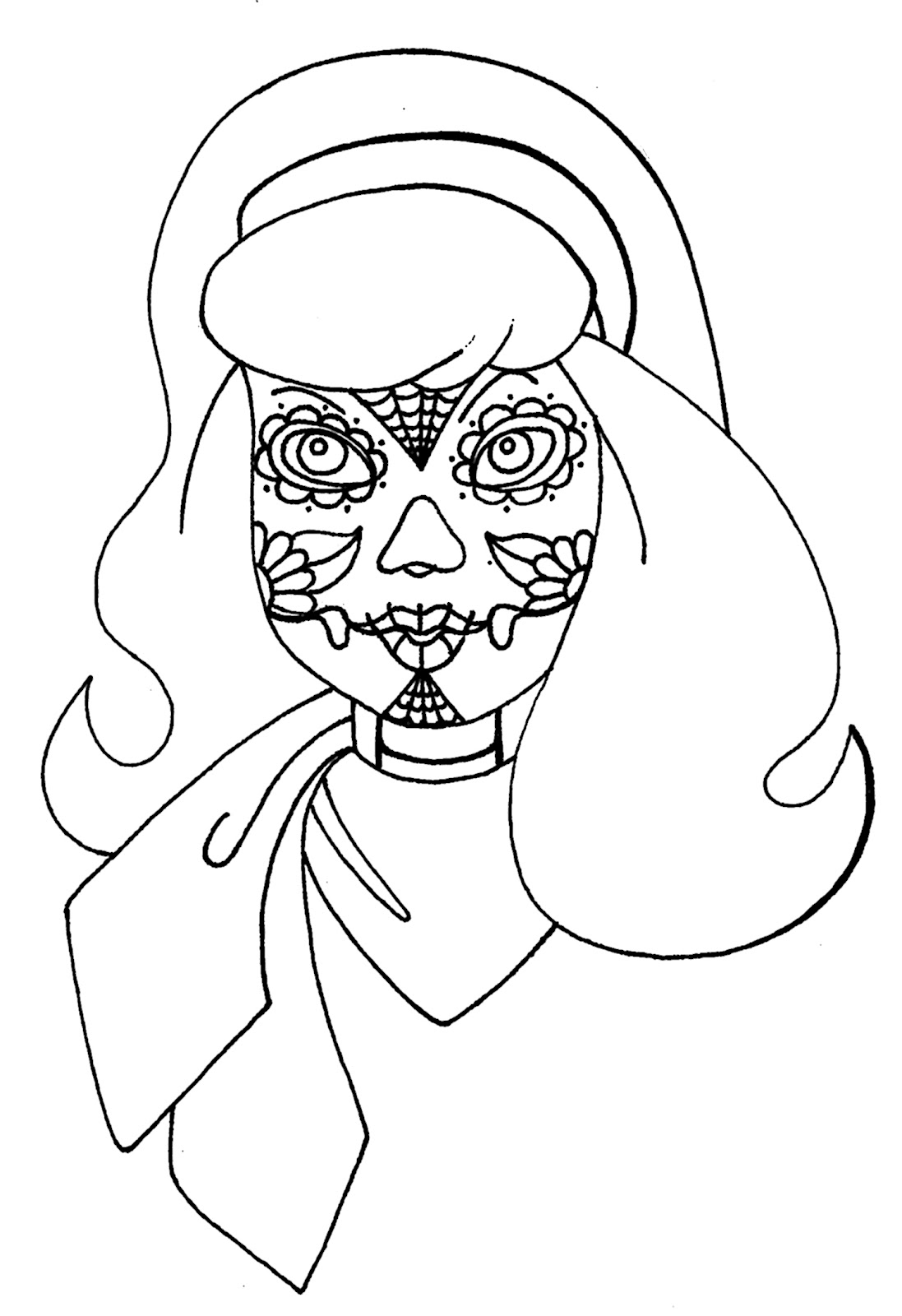 1097x1600 Scooby Doo Halloween Coloring Pages