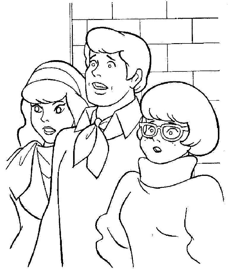 767x924 Fred Daphne Velma Shaggy Scooby Doo Coloring Pages Coloring Pages