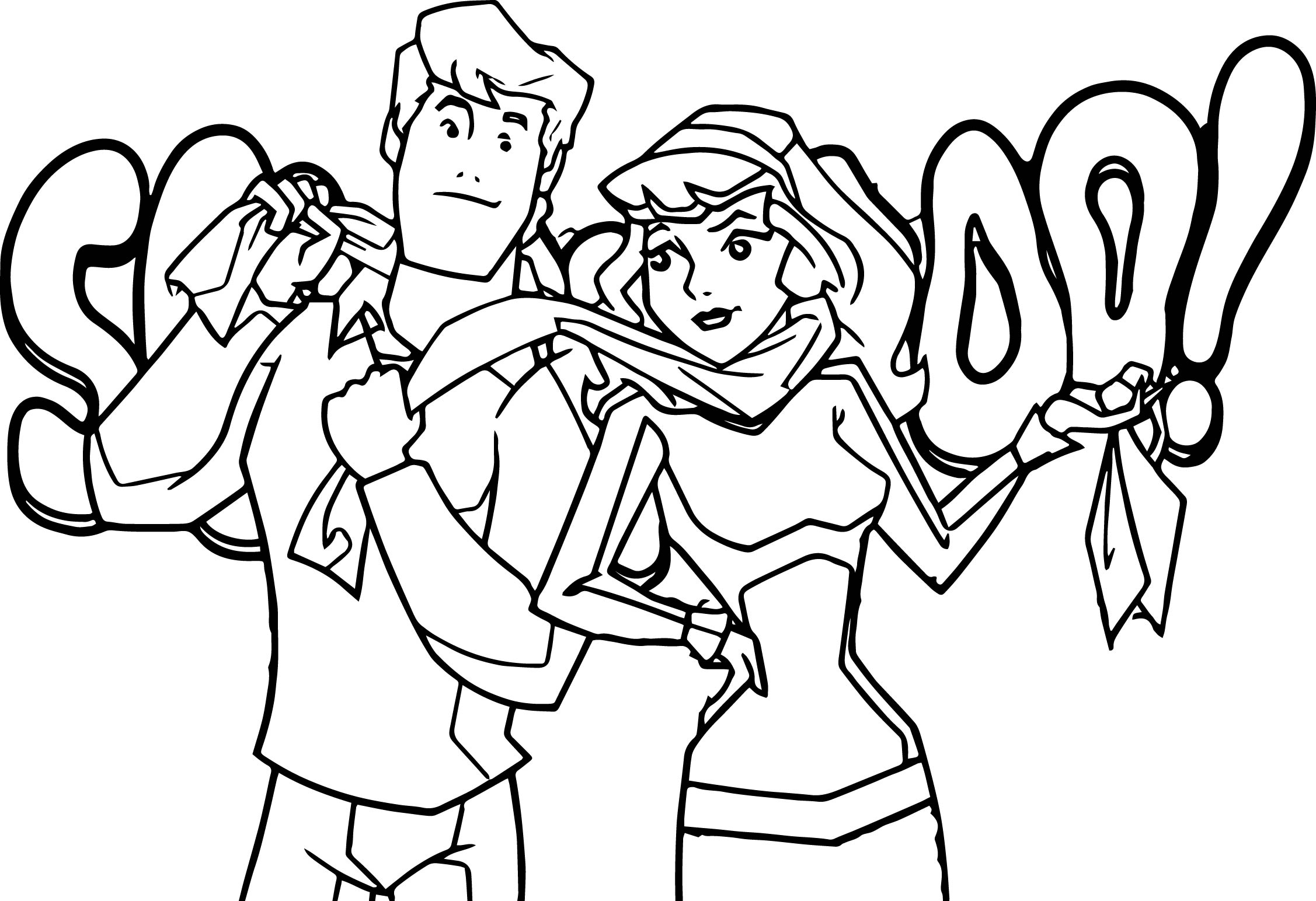 2254x1544 Best Of Fred Daphne Scooby Doo Mystery Incorporated Coloring Page