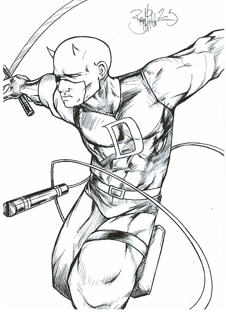 784x1088 Daredevil Coloring Pages