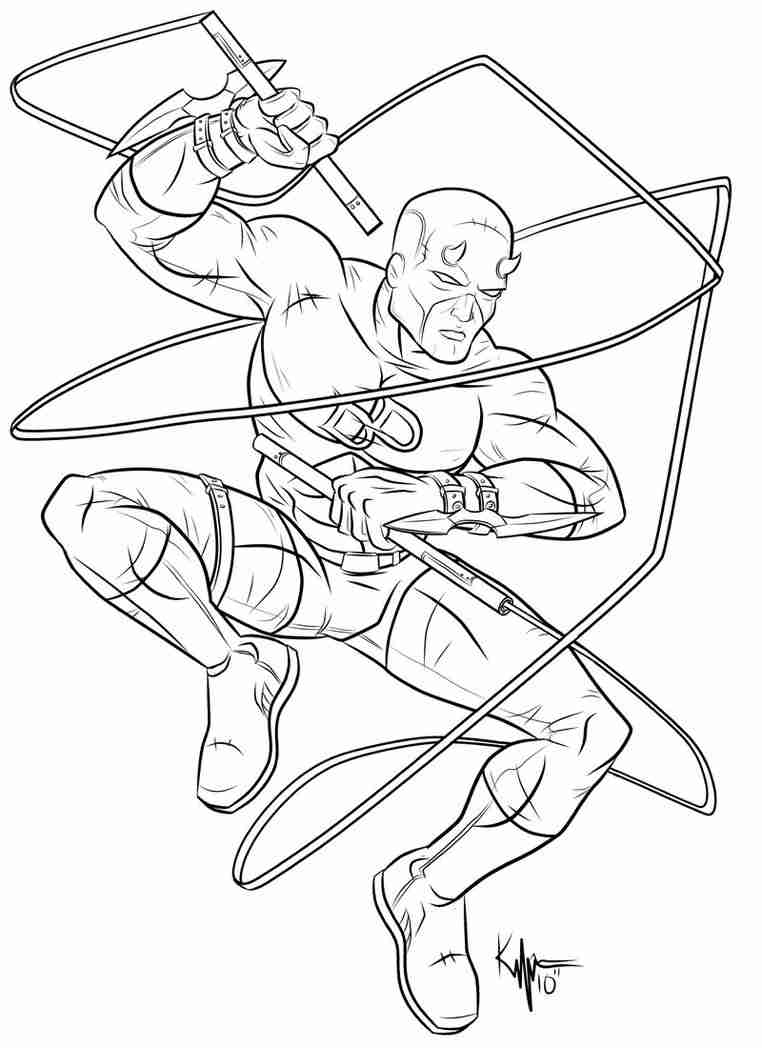 762x1048 Daredevil Coloring Pages Outstanding Olegratiy