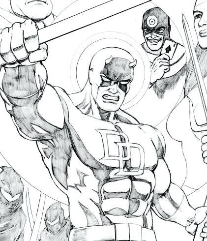 421x490 Daredevil Coloring Pages Daredevil Daredevil Printable Coloring
