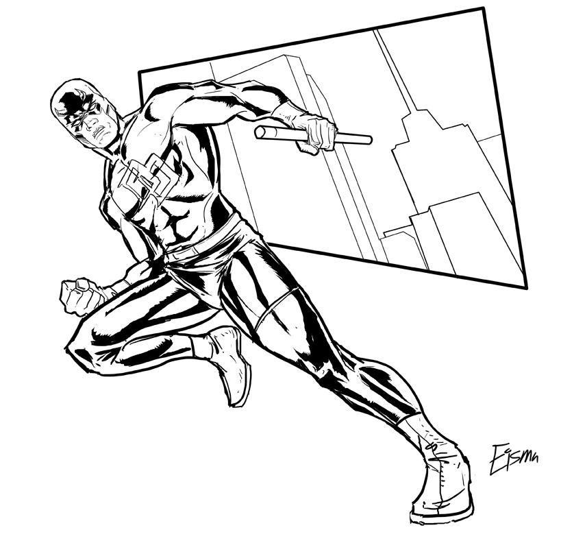 819x792 Free Daredevil Coloring Pages